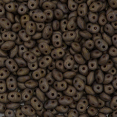 Super Duo 2x5mm Two Hole Beads Opaque Olive Senegal 15g (53420BP)