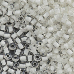 Toho Round Seed Bead 6/0 Inside Color Lined Milk White 5.5-inch tube (981)