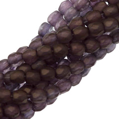 100 Czech Fire Polished 3mm Round Bead Matte Jonquil Bronze (80100BM)