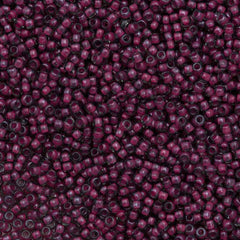 Toho Round Seed Bead 11/0 Inside Color Lined Berry Wine 19g Tube (1075)