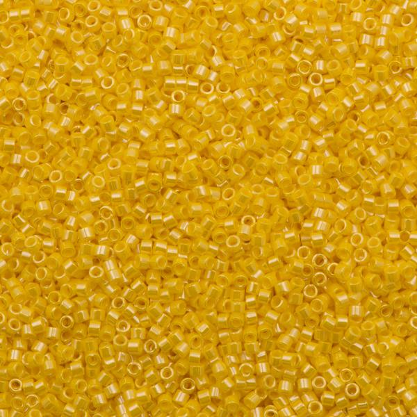 Miyuki Delica Seed Bead 11/0 Opaque Canary Luster 7g Tube DB1562