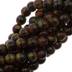 100 Czech 6mm Pressed Glass Round Chroust Beads (26117)