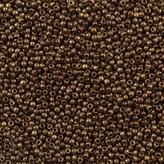 50g Toho Round Seed Beads 11/0 Gilded Marble Brown (1705)