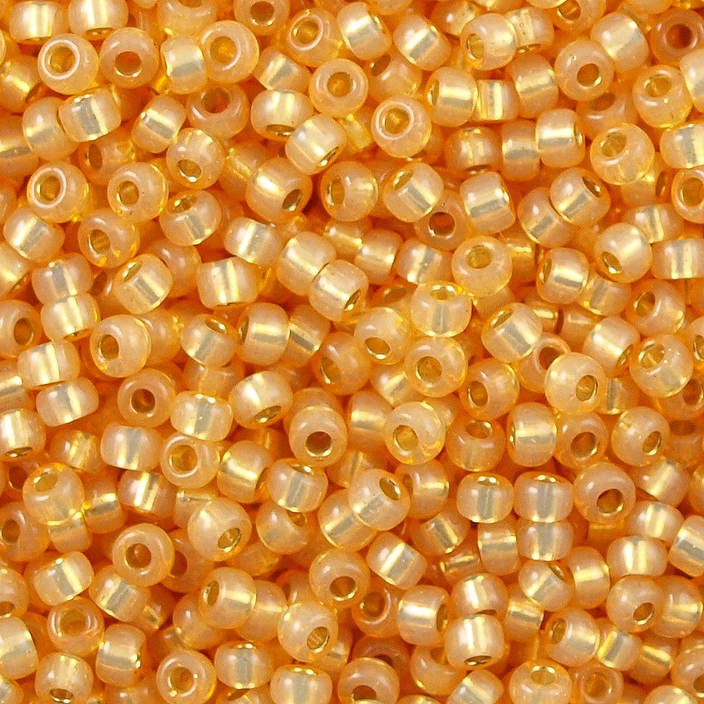 Miyuki Round Seed Bead 8/0 Silver Lined Apricot 22g Tube (552)