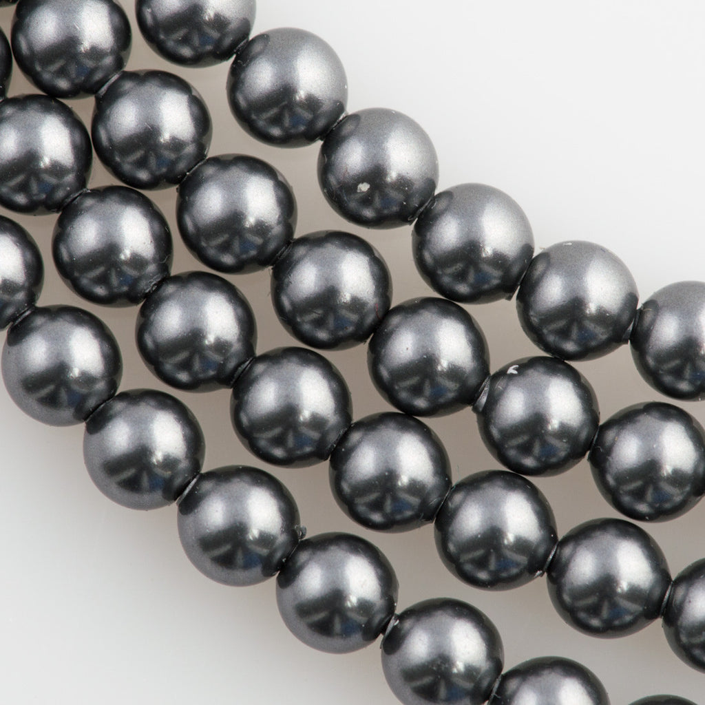 Grey Pearl Beads: 200 Swarovski 5810 3mm Round Dark Grey Pearl Beads