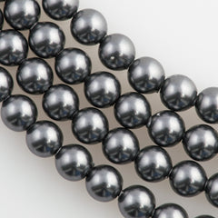 100 Swarovski 5810 4mm Round Dark Grey Pearl Beads