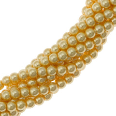 200 Swarovski 5810 2mm Round Gold Pearl Beads