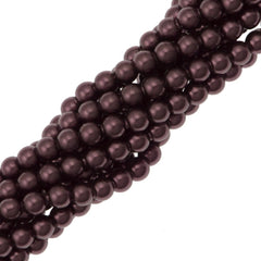 200 Swarovski 5810 2mm Round Burgundy Pearl Beads