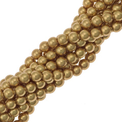 200 Swarovski 5810 2mm Round Bright Gold Pearl Beads