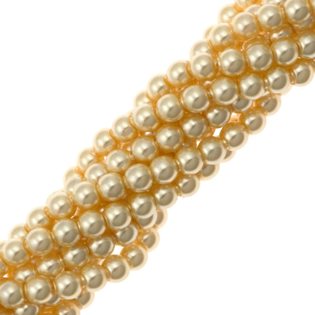 200 Swarovski 5810 2mm Round Light Gold Pearl Beads