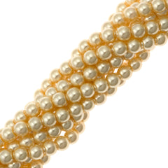 100 Swarovski 5810 4mm Round Light Gold Pearl Beads