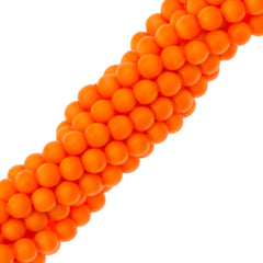 200 Swarovski 5810 2mm Round Neon Orange Pearl Beads