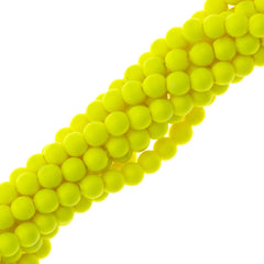 200 Swarovski 5810 2mm Round Neon Yellow Pearl Beads