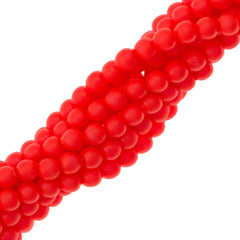 200 Swarovski 5810 2mm Round Neon Red Pearl Beads