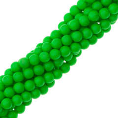 200 Swarovski 5810 2mm Round Neon Green Pearl Beads