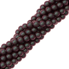 200 Swarovski 5810 2mm Round Iridescent Red Pearl Beads