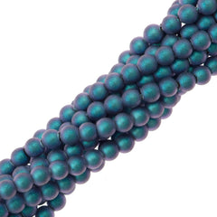 200 Swarovski 5810 2mm Round Iridescent Light Blue Pearl Beads