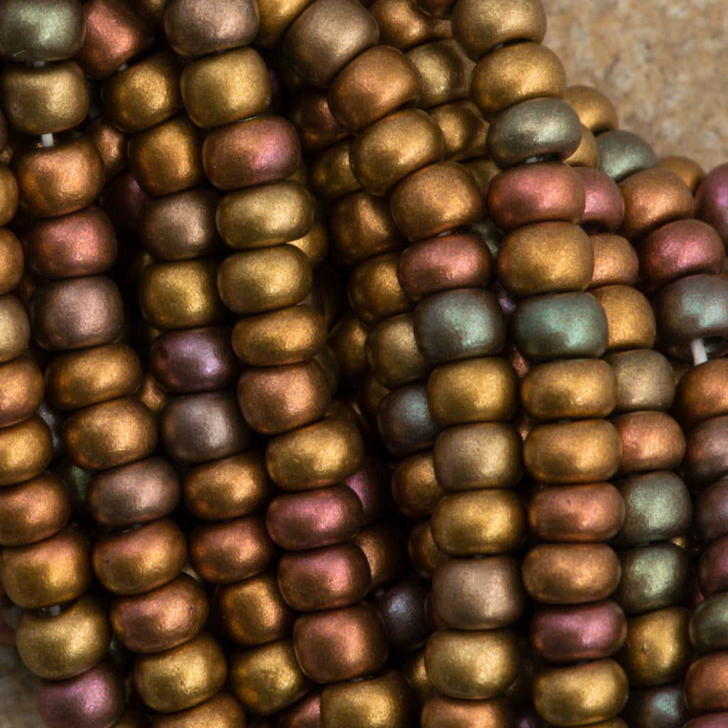 Czech Seed Bead Opaque Dark Bronze 30g 6/0 (01640)