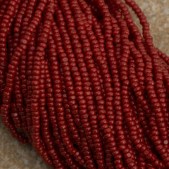 Czech Charlotte Seed Bead Dark Red 1/2 Hank 13/0 (93210)