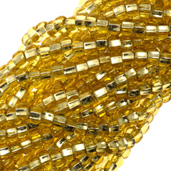 Czech Seed Bead 6/0 Silver Lined Gold 1/2 Hank (17020)