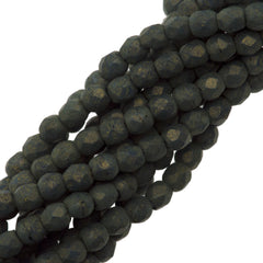 100 Czech Fire Polished 2mm Round Bead Pacifica Juniper (10070PS)