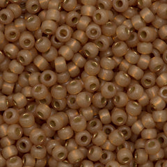 Miyuki Round Seed Bead 6/0 Duracoat Silver Lined Dyed Topaz Gold 20g Tube (4243)