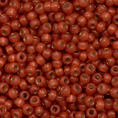 Miyuki Round Seed Bead 6/0 Duracoat Silver Lined Dyed Persimmon 30g (4244)