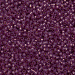 Miyuki Round Seed Bead 8/0 Duracoat Silver Lined Dyed Lilac 22g Tube (4246)