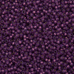 Miyuki Round Seed Bead 8/0 Duracoat Silver Lined Dyed Dark Lilac 22g Tube (4248)