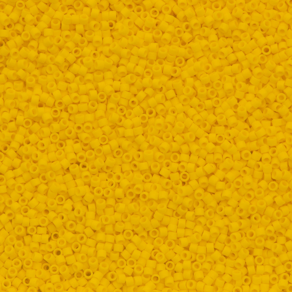 Miyuki Delica Seed Bead 11/0 Matte Canary DB1582