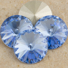 Four Swarovski Crystal 12mm 1122 Rivoli Light Sapphire (211)