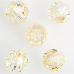 24 Preciosa Czech Crystal 6mm MC Round Bead Crystal Blonde Flare 00030BDF