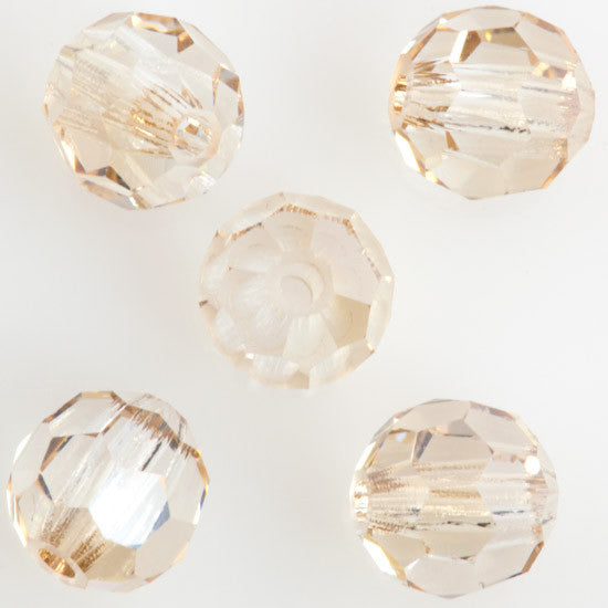 24 Preciosa Czech Crystal 4mm MC Round Bead Crystal Honey 00030HON