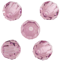 24 Preciosa Czech Crystal 4mm MC Round Bead Light Amethyst 20020