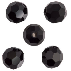 24 Preciosa Czech Crystal 4mm MC Round Bead Jet (23980)