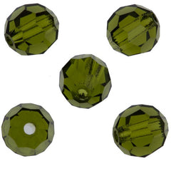24 Preciosa Czech Crystal 4mm MC Round Bead Olivine 50230