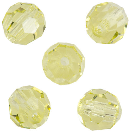 24 Preciosa Czech Crystal 6mm MC Round Bead Jonquil 80100