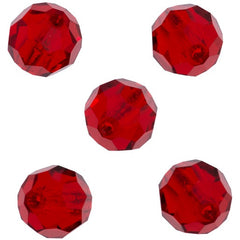 24 Preciosa Czech Crystal 4mm MC Round Bead Light Siam (90070)