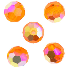24 Preciosa Czech Crystal 4mm MC Round Bead Sun AB 90310AB