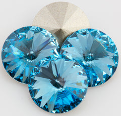 Four Swarovski Crystal 14mm 1122 Rivoli Aquamarine (202)