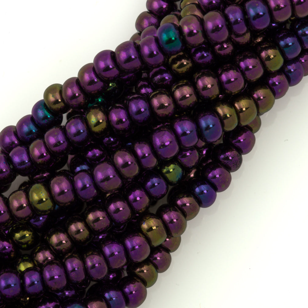 Czech Seed Bead Purple Iris 1/2 Hank 8/0 (59195)