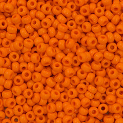 Miyuki Round Seed Bead 6/0 Opaque Light Orange 30g (405)