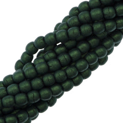200 Czech 3mm Pressed Glass Round Beads Metallic Suede Light Green (79051)