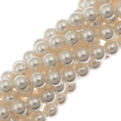 100 Swarovski 5810 4mm Round White Pearl Beads