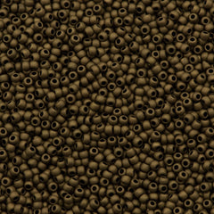 50g Toho Round Seed Bead 11/0 Opaque Matte Soft Brown (702)