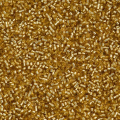 Miyuki Delica Seed Bead 15/0 Silver Lined Gold 2-inch Tube DBS42