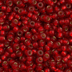Miyuki Round Seed Beads 5/0 Silver Lined Red 30g (140S)