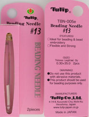 2 Tulip Beading Needles 35mm Size #13