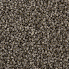 25g Miyuki Delica Seed Bead 11/0 Silver Lined Opal Glazed Smokey Light Taupe DB1456