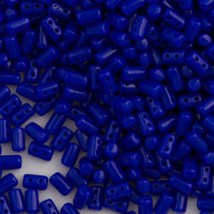 Czech Rulla 3x5mm Two Hole Beads Opaque Blue 15g (33050)